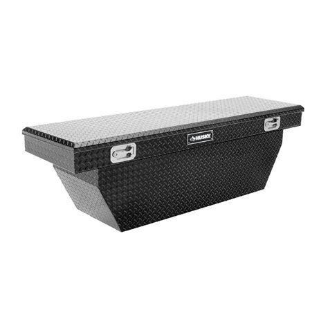 husky 70 in black aluminum polished truck box