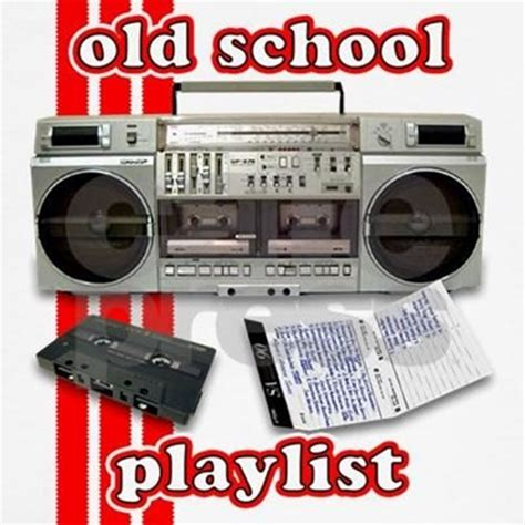 awesome old school playlist old school playlist t shirt by downtownthreads