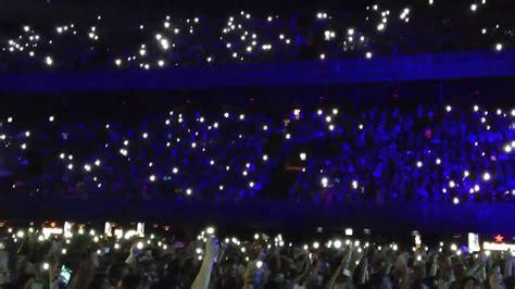 lights at mobile phone lights at concert amsterdam