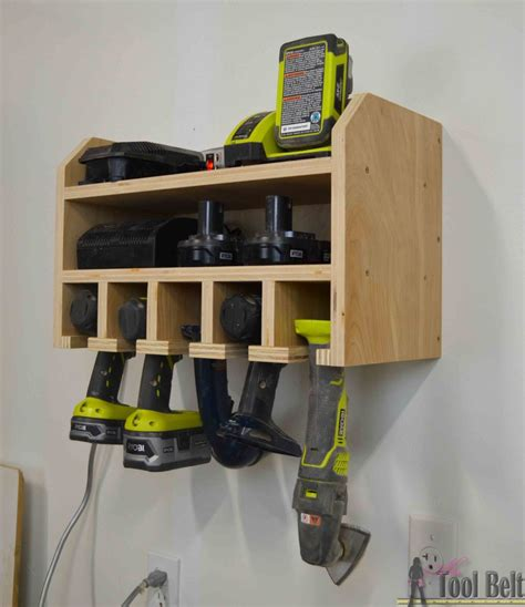 Wall Mounted Charging Station Organizer by Cordless Drill Storage Charging Station Her Tool Belt
