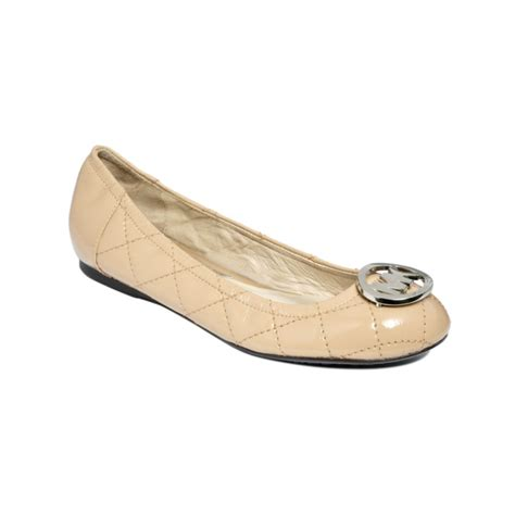 Michael Kors Fulton Quilted Ballet Flats by Michael Kors Fulton Quilted Ballet Flats In Beige