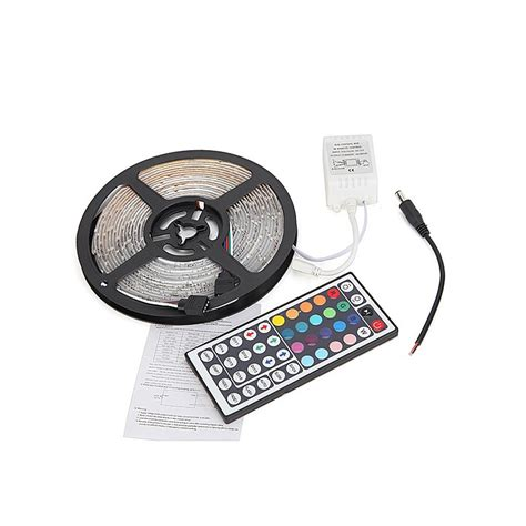 Rgb Led 3528 300 Led 5 Meter With 12v 2a Light Controller Remo 1 5m led slinga rgb 3528 vattent 228 t 12v 300 led