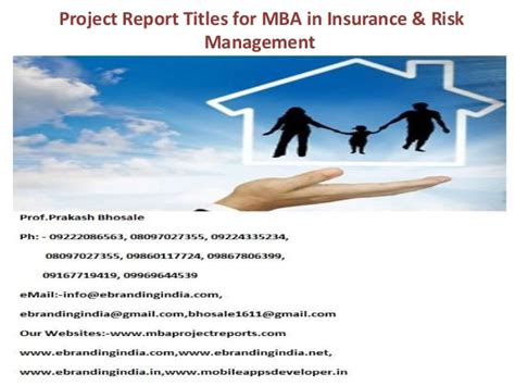 Insurance Mba Projects by Project Report Titles For Mba In Insurance Risk Management