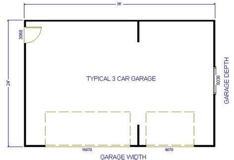 size of 3 car garage additional 3 car garage plans
