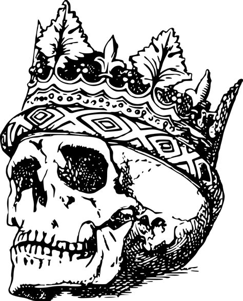 onlinelabels clip art skull wearing crown