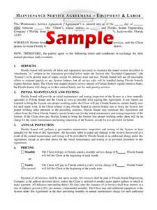 Maintenance Contract Exle by Maintenance Contract Template 4 Free Templates In Pdf Word Excel