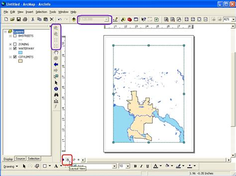 zoom layout view arcmap fixed scale