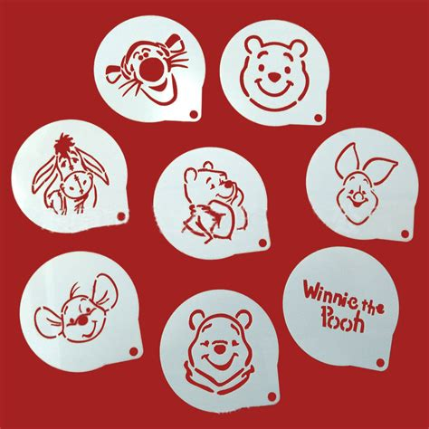 Stencils For Cookie Decorating by 8pcs Lots Figure Decorating Coffee Stencils
