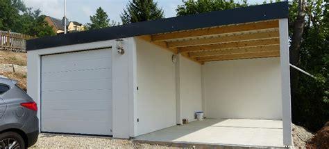 garage holzständerbauweise fertiggarage mit carport fertiggarage mit carport