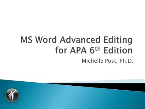 word template apa 6th edition apa 6th edition template word 2010 free software