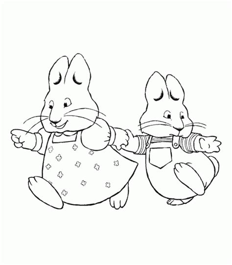 max and ruby coloring page az coloring pages