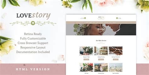 wedding planner stories love story wedding and event planner site template