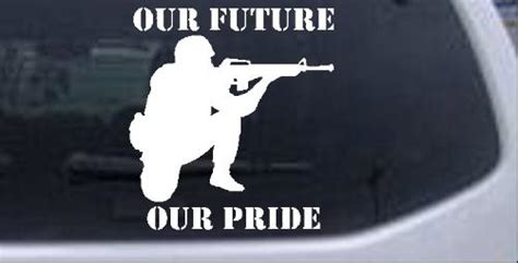 Our Army Our Pride Essay by Troops Soilder Our Future Pride Car Truck Window Laptop Decal Sticker Ebay
