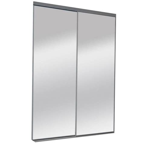 Shop Reliabilt 9150 Series By Pass Door Glass Mirror Sliding Glass Mirror Closet Doors