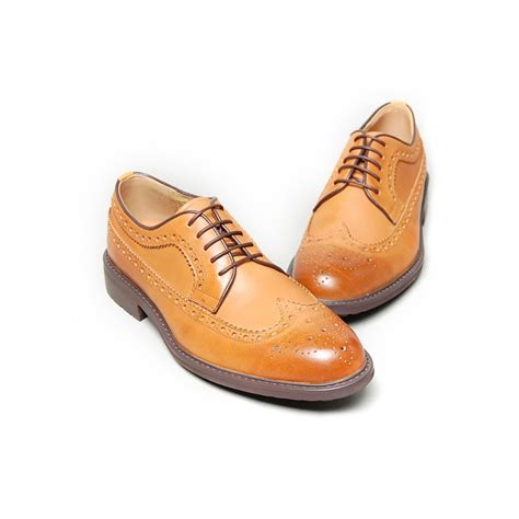 mens light oxford shoes s light brown leather wing tip longwing brogues oxford