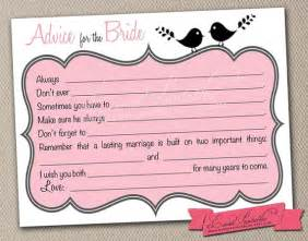 free printable advice cards bridal shower printable bridal shower mad libs lovebird by eventprintables