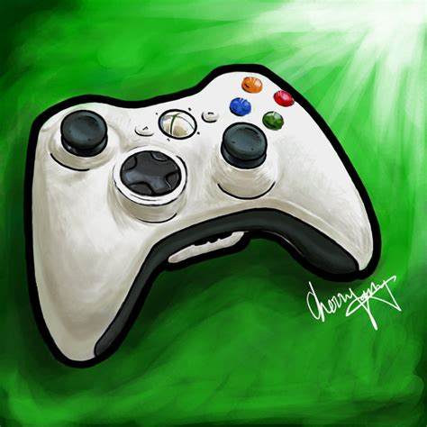 Drawing Xbox xbox 360 controller by chyeahbear on deviantart