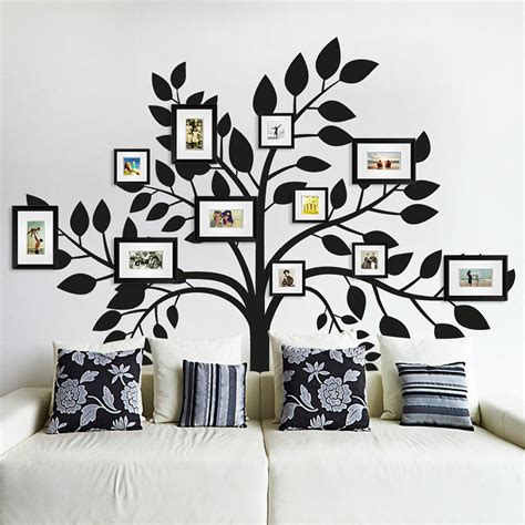 tree sticker for wall family photos tree wall sticker by sirface graphics