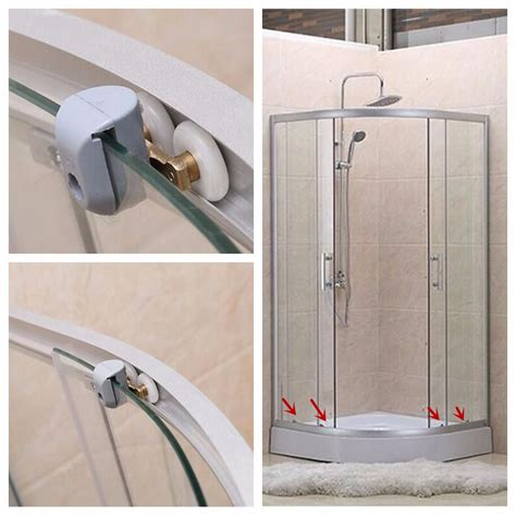 Shower Door Runners 4pcs Heavy Duty Zinc Alloy Top Bottom Shower Door Wheels Rollers Runners Alex Nld