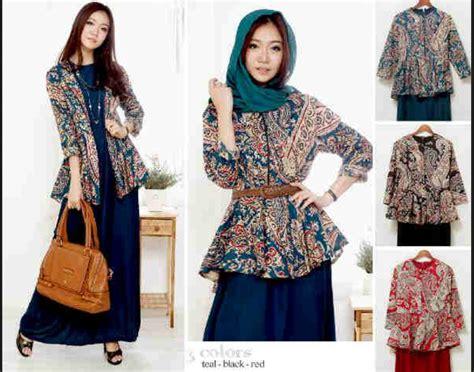Longdress Batik Pesta Batik Modern 15 model baju batik modern untuk pesta agar til menawan