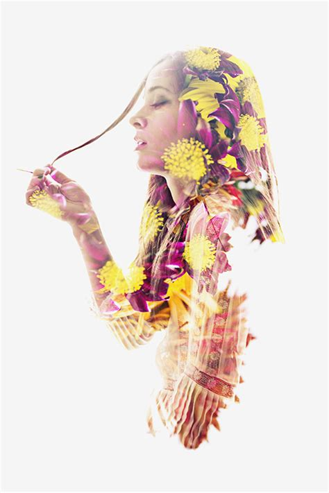 double exposure with flower tutorial we are all made of flowers 171 aneta ivanova