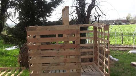 Faire Un Chalet En Bois by Construction D Un Chalet Avec R 233 Cup 233 Ration De Palette En