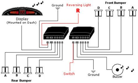 parking sensor wiring diagram 28 images car parking