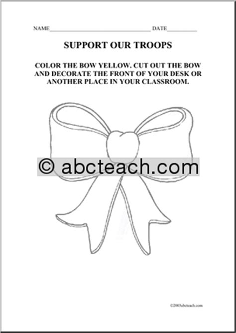 yellow ribbon coloring page coloring page yellow ribbon abcteach
