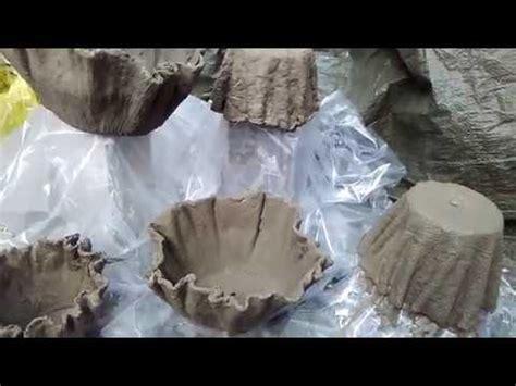 blumentopf aus beton und tuecher draped cement planters
