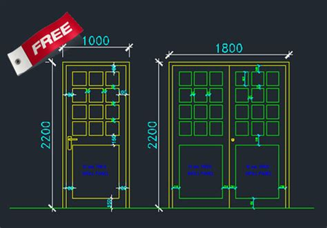 Door Section Cad by Aluminium Doors And Windows Dwg Cad Drawing Free