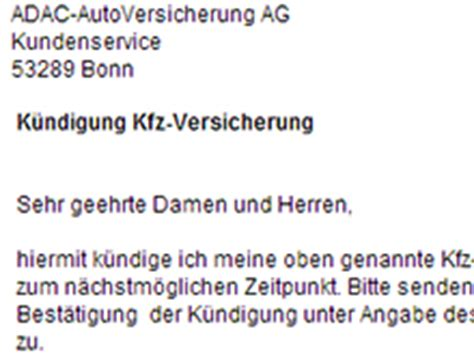 Kfz Versicherung K Ndigen Zum 01 01 by Adac Versicherung K 252 Ndigen Vorlage Download Chip