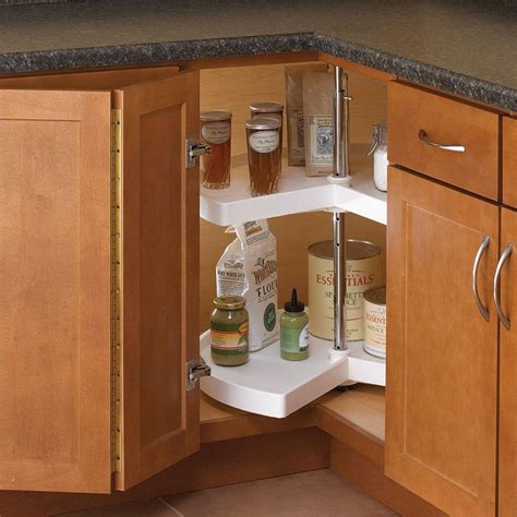 bathroom lazy susan knape vogt 32 in h x 24 in w x 24 in d 2 shelf kidney