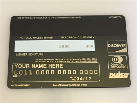 discover credit card template custom metal credit cards