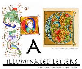 illuminated manuscript letters a free printable