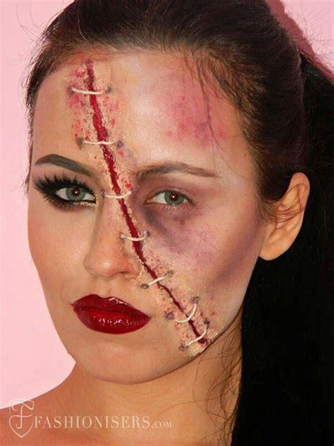stitches face wound stitches half glam