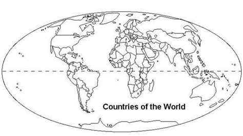 world map with countries coloring page world map