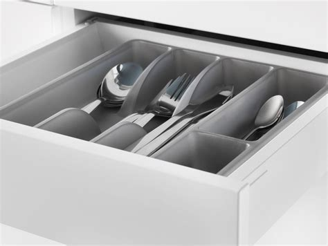 ikea high quality plastic partition storage rack tray kitchen cutlery holder ebay
