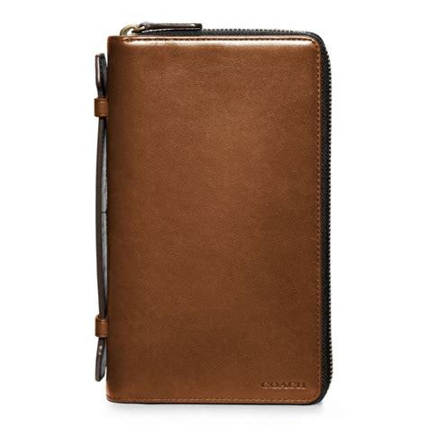 organizer leather lyst coach bleecker leather zip travel organizer