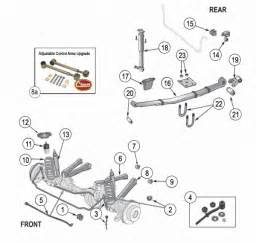 jeep xj suspension parts exploded view diagram