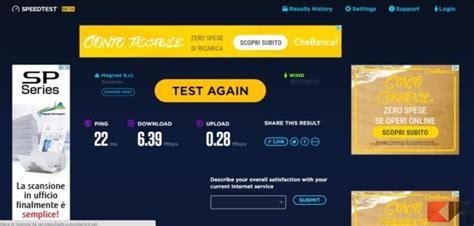 speed test beta testare velocit 224 adsl senza flash player chimerarevo