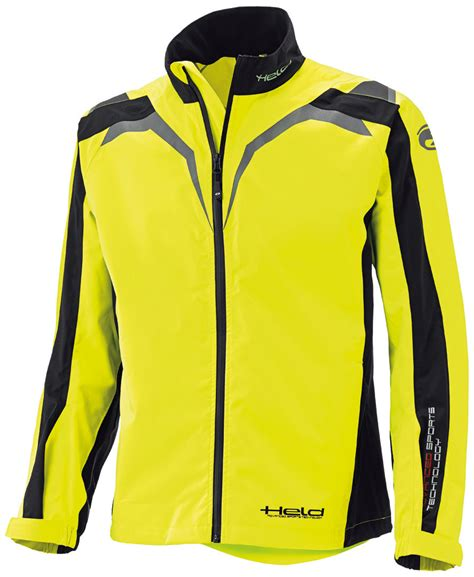 Held Motorrad Textilbekleidung superhelden t shirts held rainblock top jacke gelb