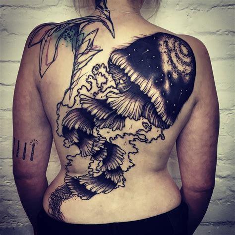 back tattoo jellyfish saturated jellyfish tattoo on back best tattoo ideas gallery