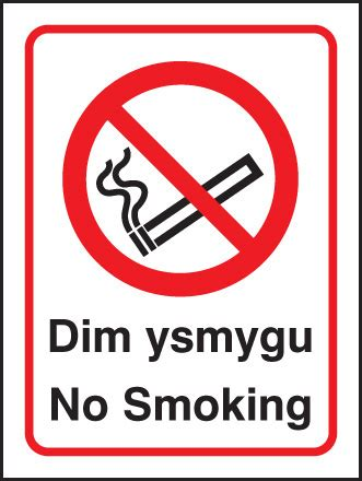 no smoking signs wales 13025h welsh no smoking rigid plastic 300x250mm safety sign