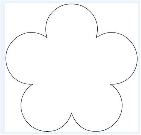 flower pattern printables pinterest flower template