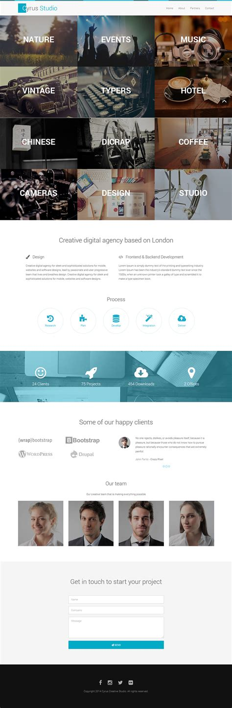 bootstrap themes official free bootstrap portfolio template the bootstrap themes
