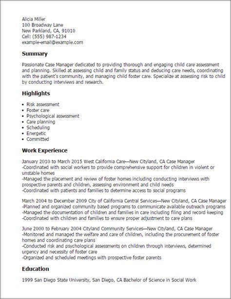 case manager resume template best design tips