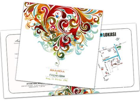 cara membuat undangan full color 8 contoh undangan pernikahan abstrak fullcolor