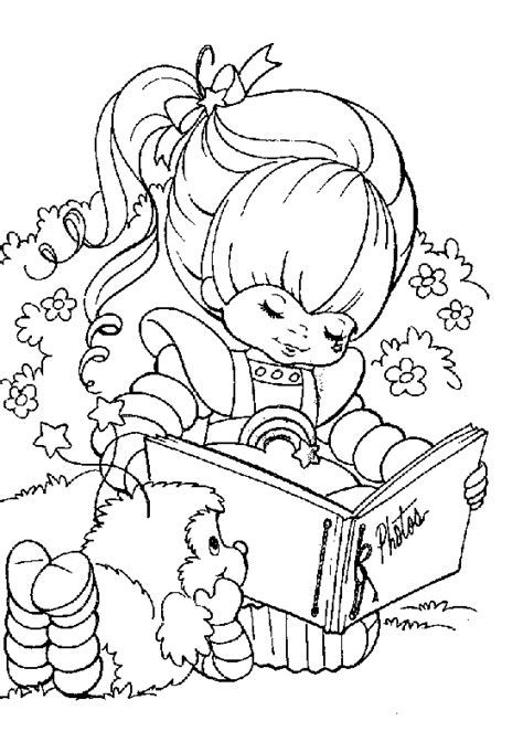 coloring page rainbow brite coloring me