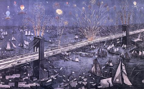 The Greatest American Opening Opening Of The Great New York And Bridge And Grand Display Of Works Painting By