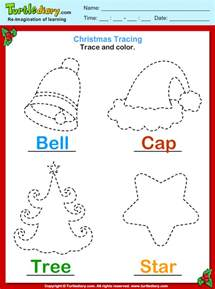 trace and color christmas vocabulary worksheet turtle diary